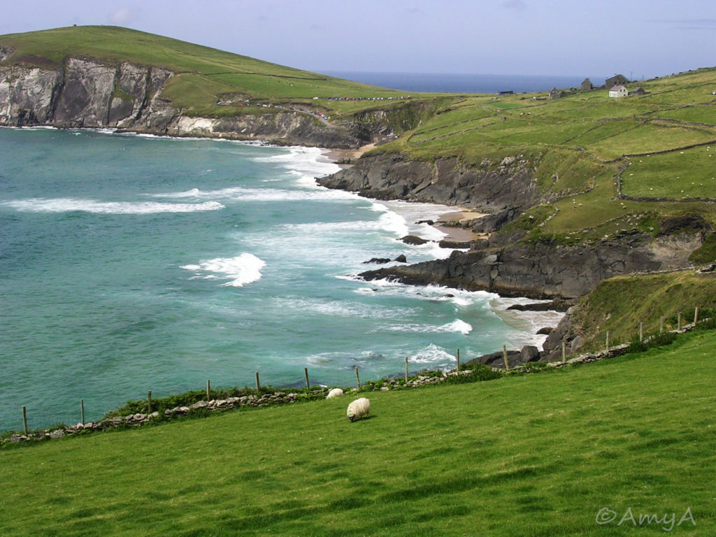 Dingle Peninsula, Ireland. On a bus tour around Ireland with my sister when I lived there between October 2005 and September 2006. For a place that's supposed to get a lot of rain, we had fantastic weather on this trip.